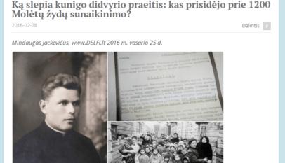 Zrzut ekranu ze strony internetowej diaspory żydowskiej na Litwie.