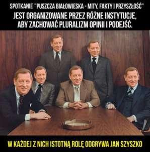 """Minister Szyszko przeprowadził """"debatę"""" sam ze sobą, fot. twitter.com/ Greenpeace"""