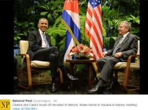 Historyczne spotkanie Obamy i Castro / twitter.com