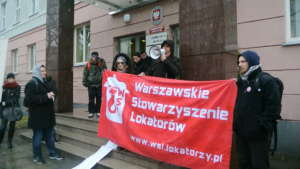 Działacze WSL podczas protestu / fot. Piotr Nowak