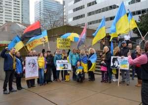 Demonstracja w obronie Nadii Sawczenko pod rosyjskim konsulatem, Kijów, fot. wikimedia commons