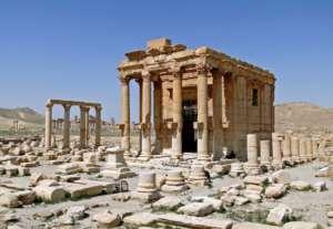 Zniszczona przez ISIS w sierpniu 2015 r. świątynia Baalszamina w Palmyrze / fot. Wikimedia Commons