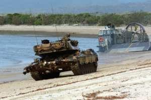 Amerykański czołg podczas ćwiczeń / wikipedia commons