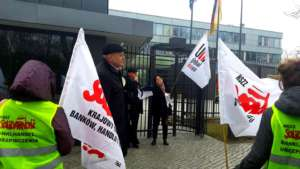 Protest był częścią międzynarodowej kampanii przeciw wyzyskowi w DHL