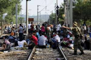 Blokada torów na grecko-macedońskim pograniczu / wikipedia commons