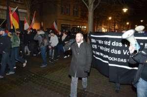 Stefan Jagsch na marszu antyimigranckim, listopad 2015/facebook.com