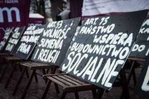 Czwartą noc pod Kancelarią Prezesa Rady Ministrów spędzili aktywiści partii Razem/facebook.com