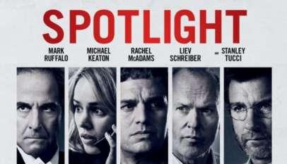 """Plakat zapowiadający film """"Spotlight""""."""