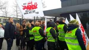 "Pikieta ""Solidarności"" pod ambasadą Niemiec"