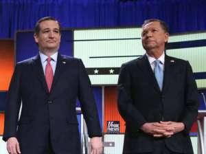 Ted Cruz i John Kasich podczas debaty telewizyjnej / youtube.com