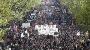 Manifestacja w Paryżu, 28 kwietnia https://twitter.com/nuitdebout