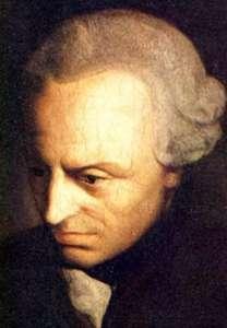 """Wszystkie istotne dla zgodnej koegzystencji obywateli przykazania Dekalogu da się sformułować w postaci dwóch zaleceń Immanuela Kanta postępuj zawsze tak, abyś mógł chcieć, by zasada twego postępowania była prawem powszechnym"""" oraz """"traktuj człowieka zawsze jako cel a nie środek do celu"""". Złota reguła wzajemności, spoiwo wszelkich społeczeństw obecna jest we wszystkich wielkich systemach etycznych. Na przykład Konfucjusz ujął to w zaleceniu """"Nie czyńmy tego co gniewa nas u innych"""" fot. źródło: Wikimedia Commons"""