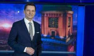 """Krzysztof Ziemiec na antenie """"Wiadomości"""", fot. facebook.com/ Wiadomości TVP"""