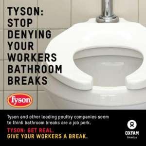 Dla pracowników firmy Tyson wyjście na ustęp to niedostępny komfort / twitter.com