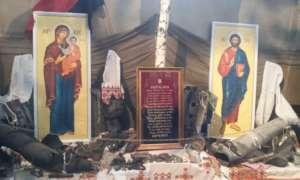 Modlitwa za ukraińskie wojsko w jednej ze lwowskich cerkwi