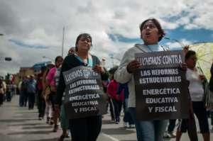 Protest CNTE przeciwko neoliberalnym reformom w Meksyku / fot. https://www.flickr.com/photos/eneas/9735012996