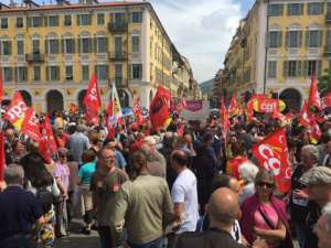 Manifestacja związkowców z CGT w obronie prawa pracy/facebook.com