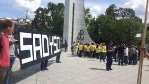 Pikieta Partii Razem przeciwko zmianom w prawie aborcyjnym, fot. Facebook.com/ Razem