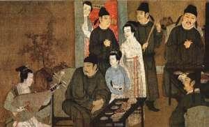 Gu Hongzhong, Pieśniarka, ze zbiorów Muzeum Narodowego w Pekinie, źródło: wikimedia commons