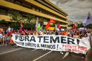 Protest przeciwko Michelowi Temerowi, w obronie Dilmy Rousseff / fot. Flickr