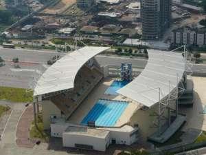 Centrum pływackie w Rio. Budowa tego i innych obiektów olimpijskich pochłonęła astronomiczne kwoty / fot. Flickr/Around the rings92
