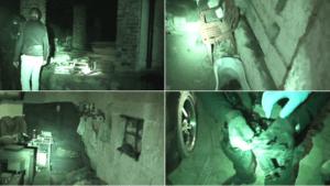 Kadry z materiału nakręconego przez policję w gospodarstwie w Łabiszynie / fot. KWP Bydgoszcz