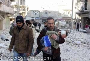 Nad zachodnim Aleppo znowu latają rządowe bombowce, liczba ofiar nalotów nie jest znana/flickr.com/Freedom for Syria