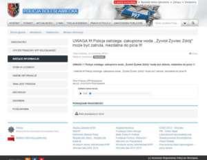 Zrzut ekranu ze strony policji w Bolesławcu