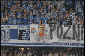 Transparent na stadionie Lecha obrażający prezydenta Poznania / twitter.com