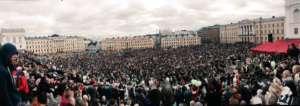 Marsz w Helsinkach / fot. Yonatan Kelib Twitter