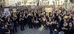 Czarny Protest we Wrocławiu / fot. Partia Razem