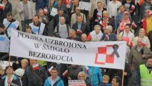 Protest pracowników PZL Świdnik / solidarnoscpzlswidnik.pl/