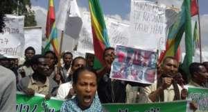 Protest Oromów / fot. Flickr/gadaa