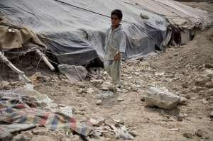 Kabul, obóz dla uchodźców z terenów wiejskich, kontrolowanych przez talibów/wikimedia commons