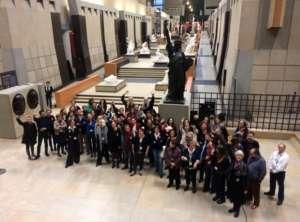 Solidarnościowe zdjęcie pracownic i pracowników Muzeum d'Orsay / fot. Twitter