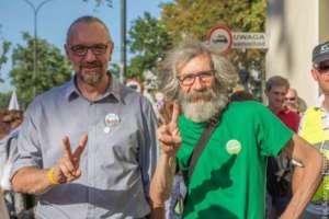 Marek Kossakowski, przewodniczący Zielonych, z Mateuszem Kijowskim, wrzesień 2016/facebook.com