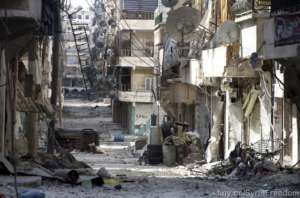 Ruiny Aleppo / fot. Twitter/SyriaFreedom