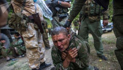 Ukraiński jeniec w Donbasie