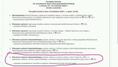 Porządek obrad Sejmu