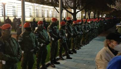 Protest pod Kancelarią Premiera