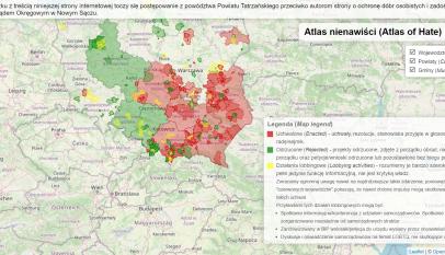 Mapa Atlasu Nienawiści