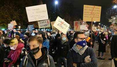 Protesty pod Kancelarią Premiera