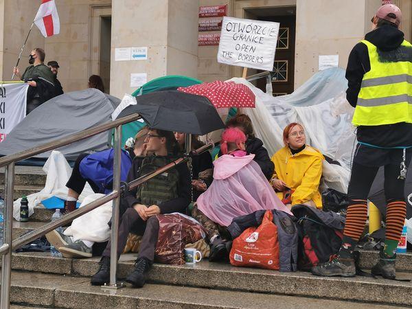 protest pod UM Wrocław